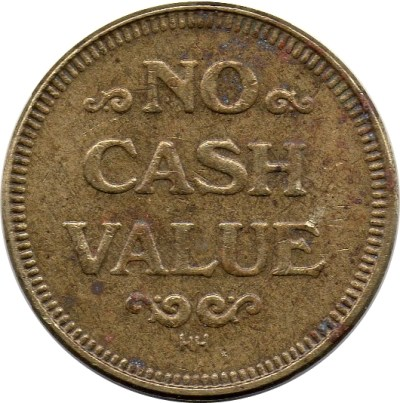 Token - No Cash Value (Eagle looking right; 25 mm; Brass; HH) - * Tokens * – Numista