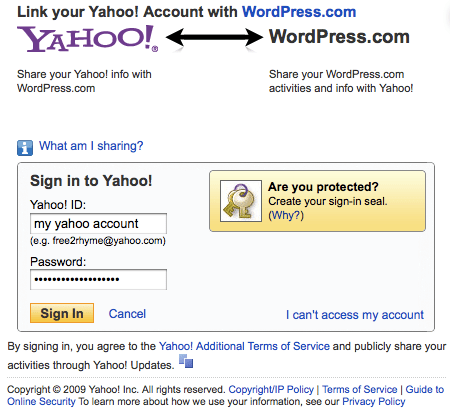 Publicize - Yahoo Authentication