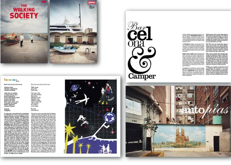 Ilustraciones, textos y coordinación editorial de la Revista TWS de Camper