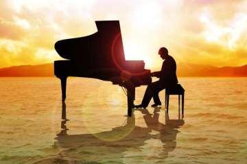 πιάνο τοπίο μουσική σουρεάλ