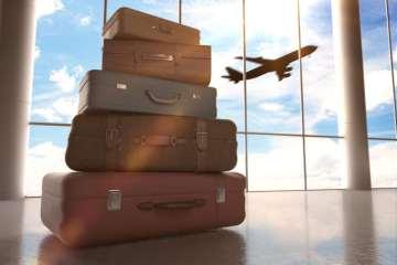 βαλίτσες ταξίδι αεροπλάνο αεροδρόμιο