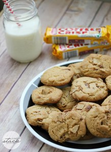 Cookies made with Coffee Crisp - click the picture to go to the recipe at Stacie's site!