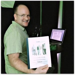 Robert at studio recording ebook