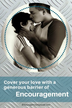 Cover your love with Encouragement pin