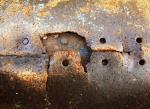 rusted steel needs a covering to protect