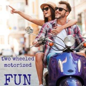 two wheeled motorized fun on wheels