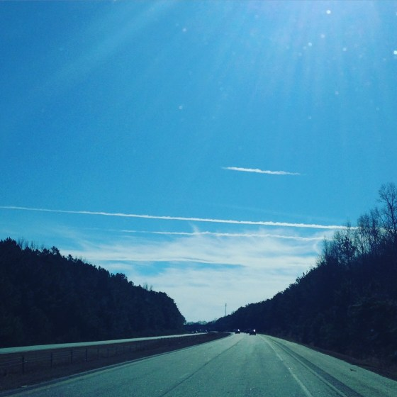 A Joan Day drive with blue sky