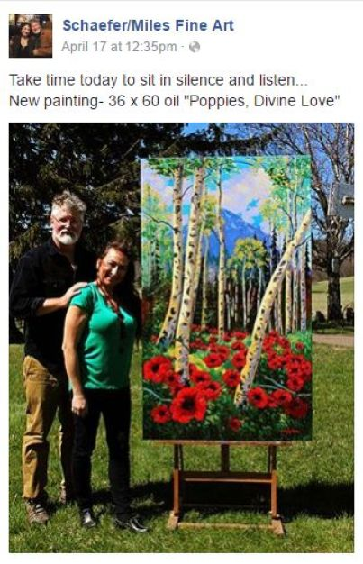 Schaefer Miles Fine Art Poppies Divine Love Kevin and Wendy No Ego and it will come together