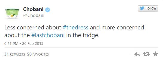 Chobani_#TheDress