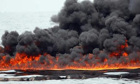 oil shockwave 2007 oil on fire