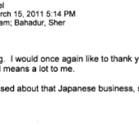 March 15th, 2011 - I've been pretty depressed about that Japanese business