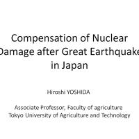 Fukushima - Compensation of Nuclear Damage after Great Earthquake in Japan
