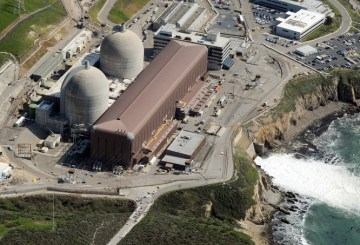 Aerial view of the Diablo Canyon Nuclear