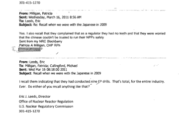Pages from ML12145A060 - March 16th, 2011 - Japan had only ever conducted 9 EP drills as of 2009 - For the entire industry