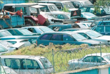 Cars at the port of Mombasa