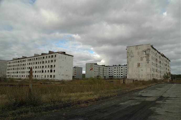 Russian dead town - stays abandoned 36