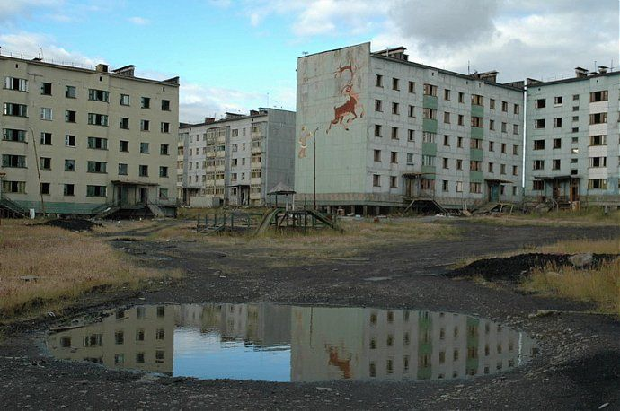 Russian dead town - stays abandoned 66