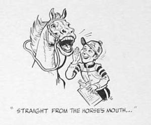 Blog_Straight from the horse's mouth