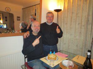 Antonino helps David celebrate his...how old?? birthday.