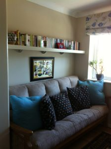 The TV Room where you can relax and enjoy our extensive DVD collection