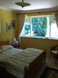 Your bedroom overlooking the woods