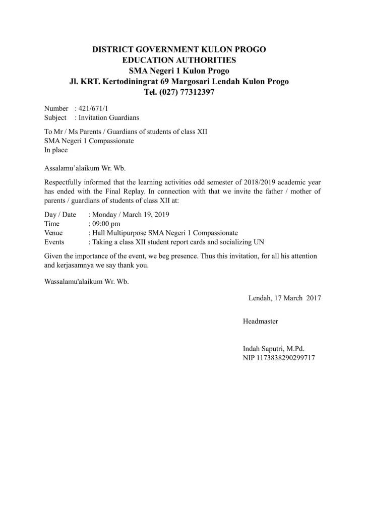 Contoh Kartu Undangan Makan Siang Dalam Bahasa Inggris