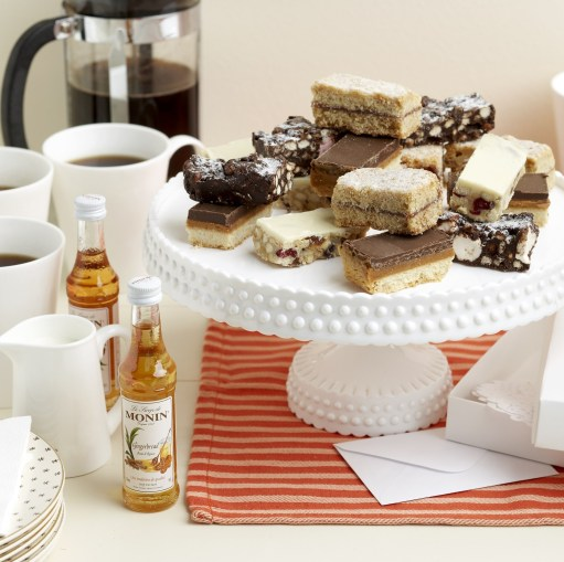 gifts by post coffee cake and premium coffee flavouring syrups