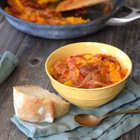 Hungarian Lecso - Traditional Pepper Stew