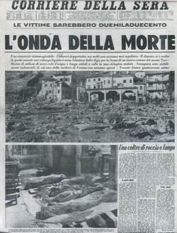 Vajont en el Corriere della Sera