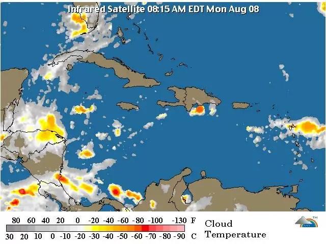 Mapa onda tropical