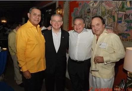 Menendez con Miguel Franjul, Salomon y Vinicito