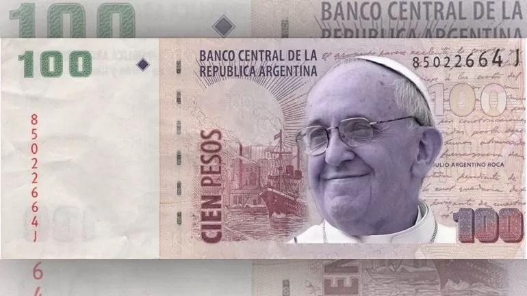 Papa Francisco billete