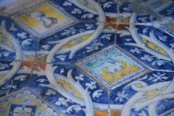 the tiled floor in the vestibule
