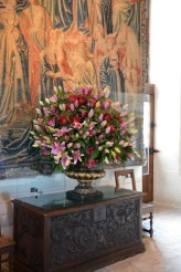 Floral arrangement in the hall