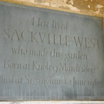 A plaque on the Elizabethan Tower