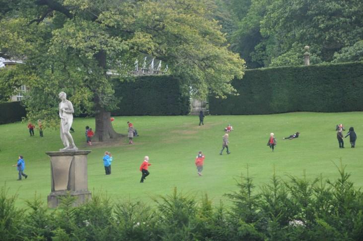 Schoolchildren having a marvellous time