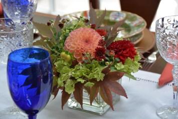 The small flower arrangement
