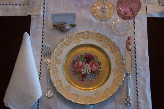 Royal Doulton Hand Painted Pink Cabinet Plates