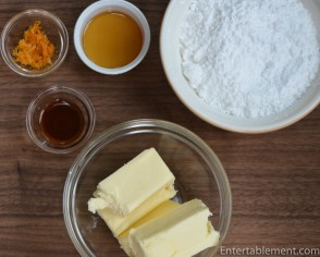 Gather the buttercream ingredients