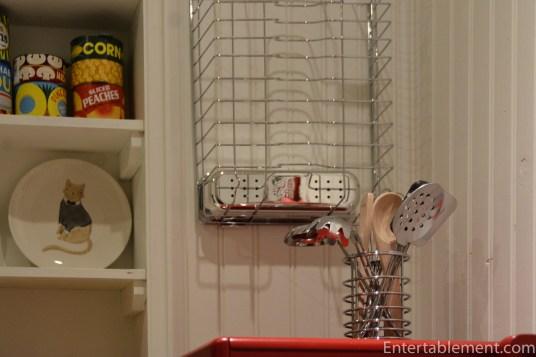 Dish Rack hung on the wall