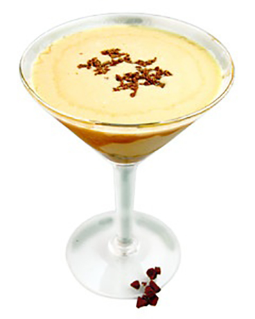 What is a christmas party without eggnog? Add some pizazz and make it a martini.