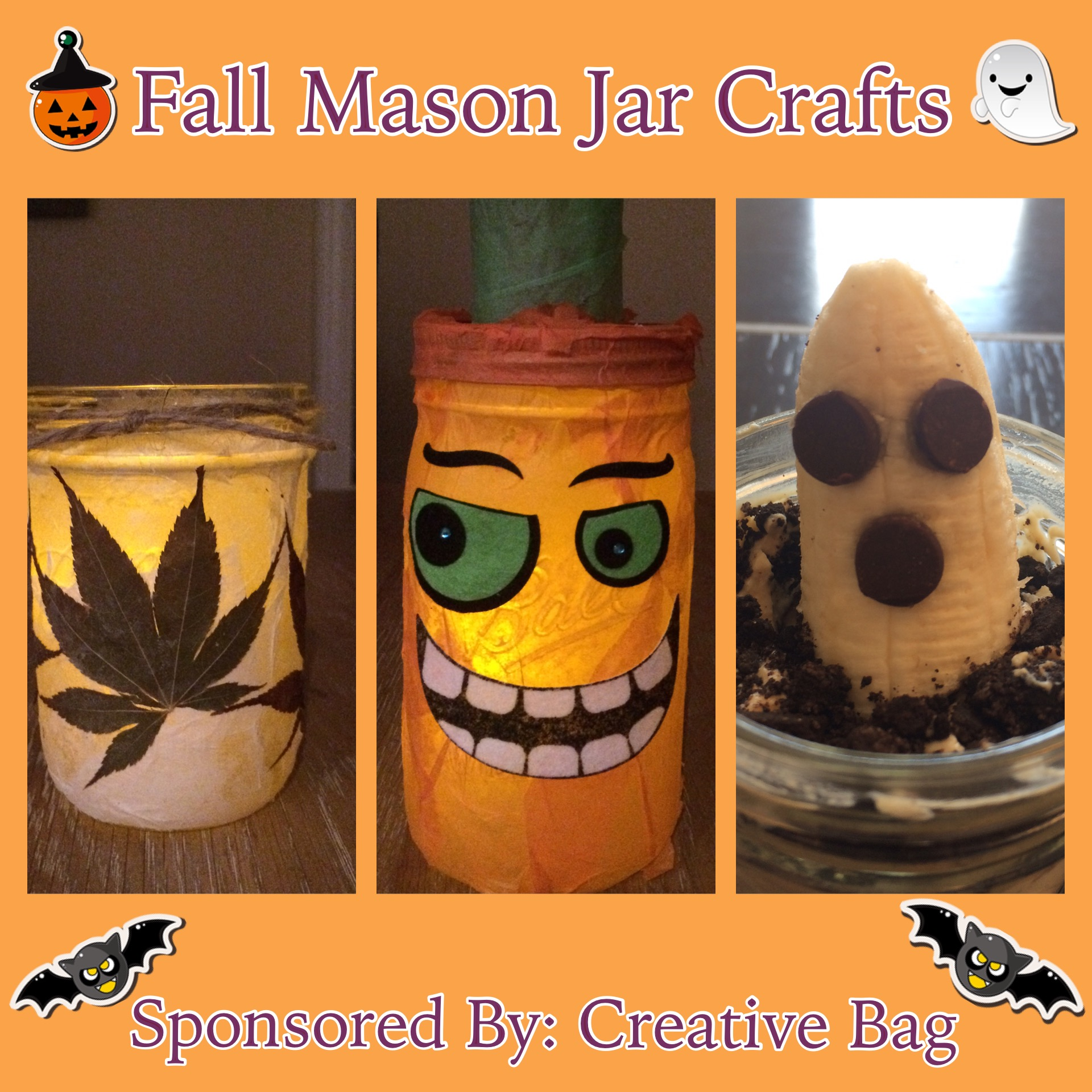 Fall Mason Jar Crafts & Healthy Recipe