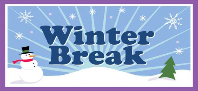 WINTER BREAK 2015 CALENDAR