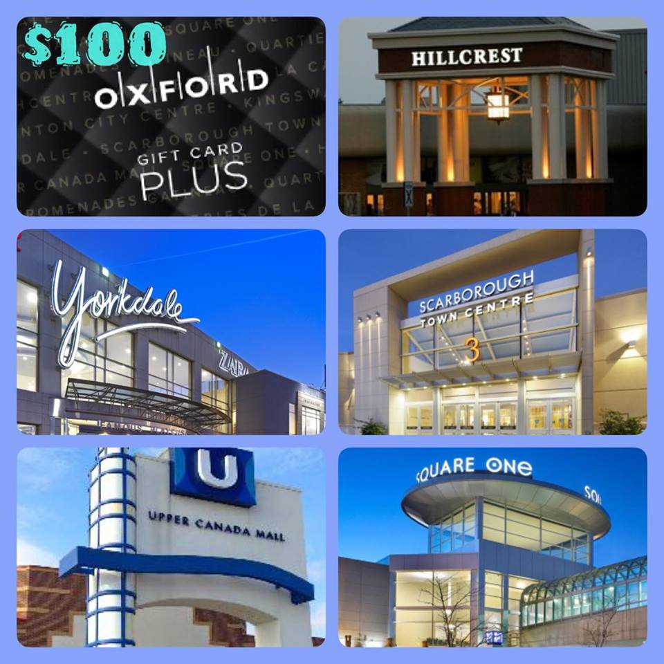 Contest: $100 Gift Card to Oxford Shopping Centres