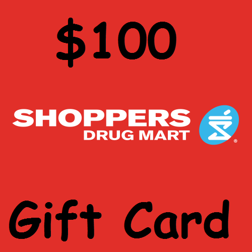$100  Shoppers Drug Mart Gift Card