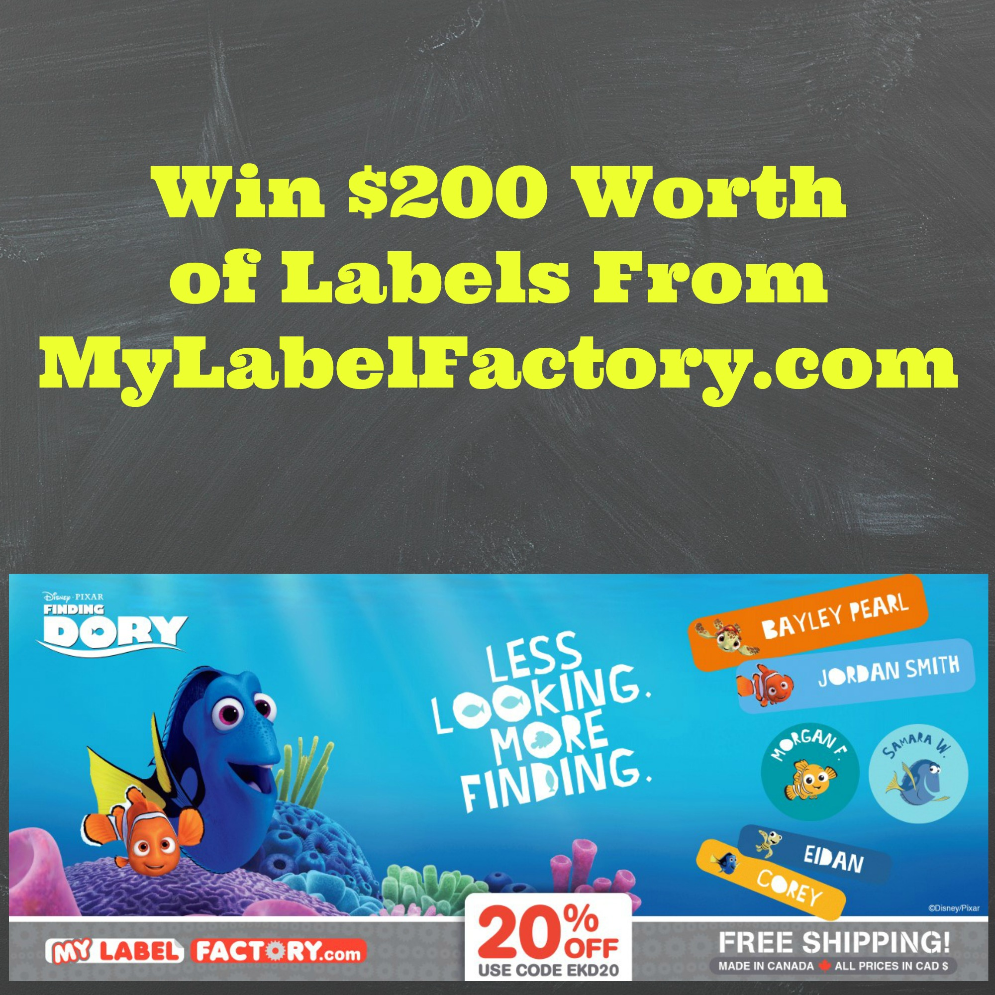 $200 Kid's Label Contest