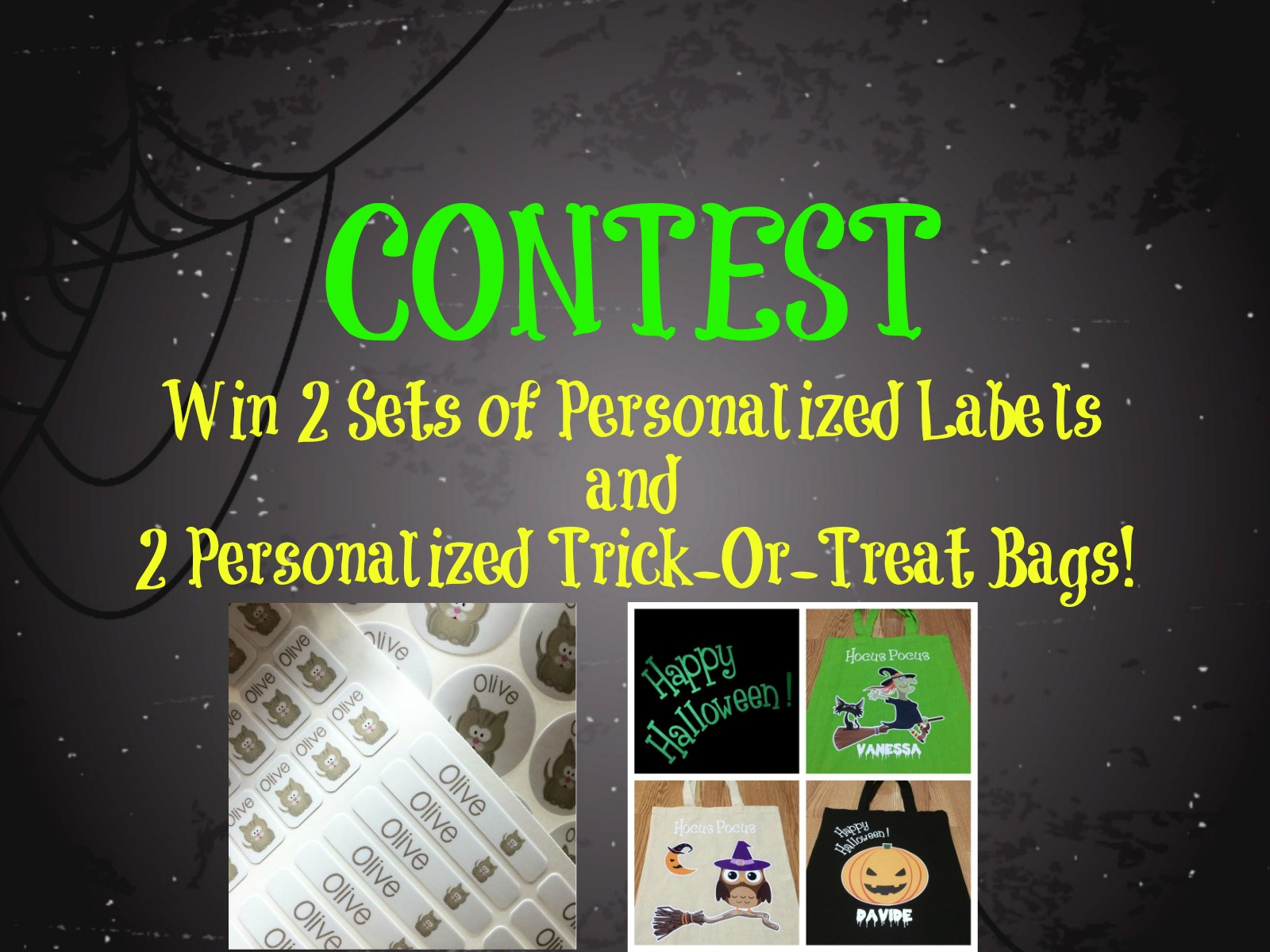 CONTEST: Personalized Halloween Bags & Labels!