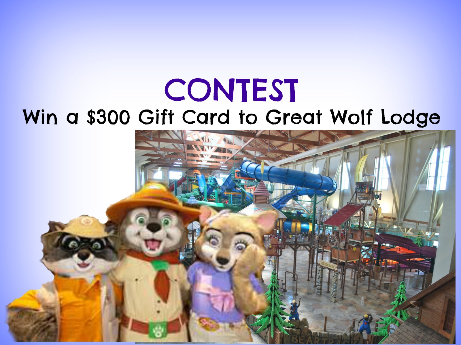 Contest: Win a $300 Great Wolf Lodge Gift Card