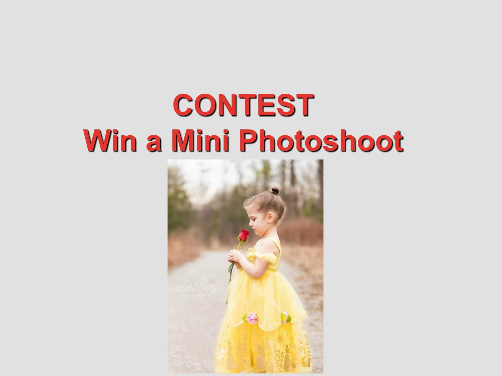 CONTEST: Win A Mini Photo Shoot