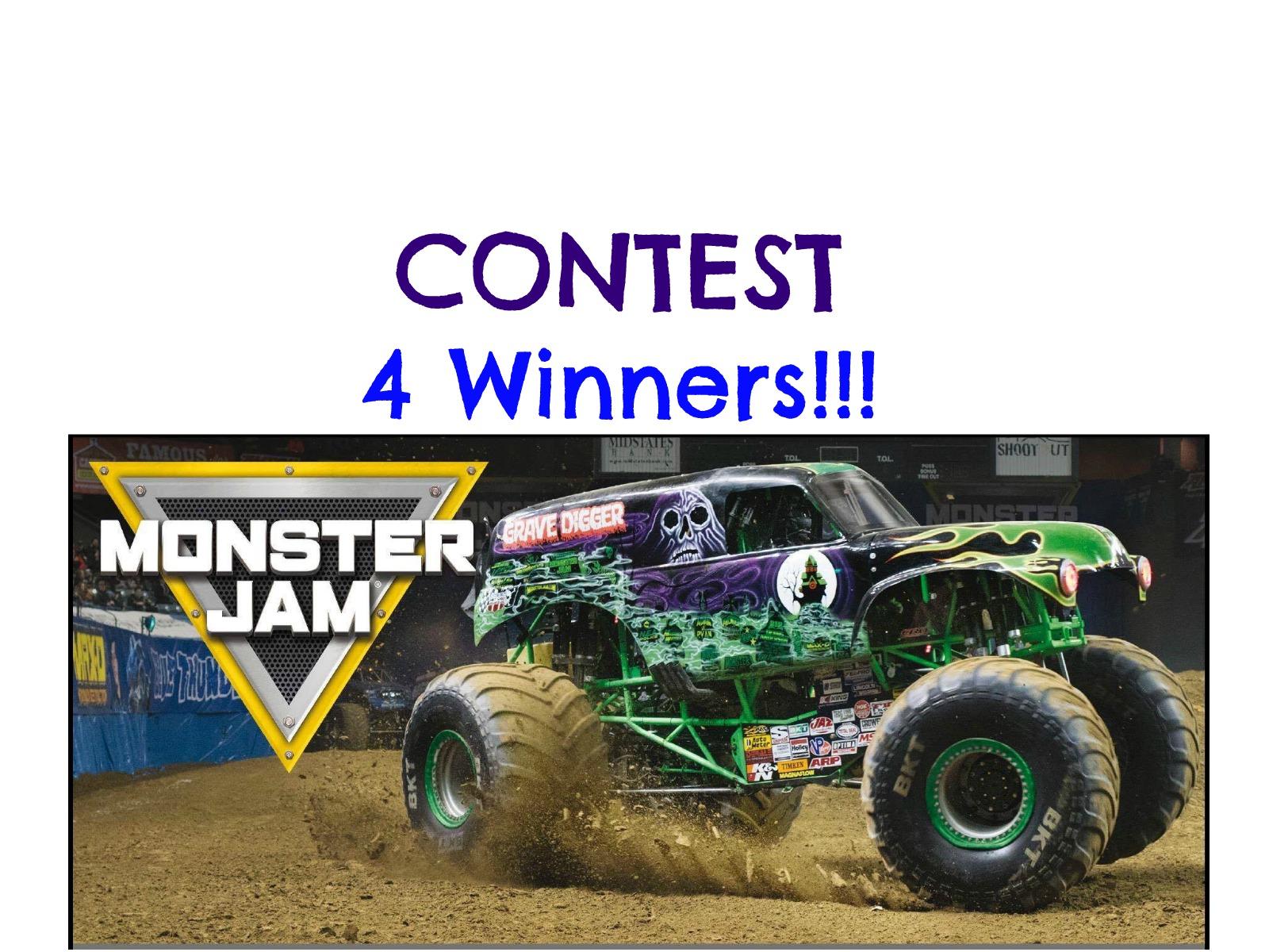 Monster Jam Contest-4 Winners